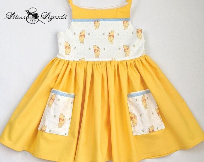 Girls Pooh Dress, RTS Size 4