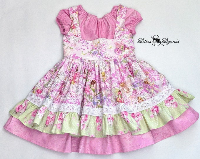 Girls Fairy Dress, Size 6