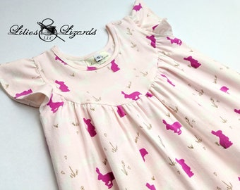 Girls Bunny Easter Dress
