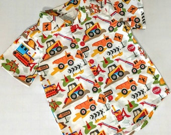 Boys Construction Trucks Excavator Dig It Shirt