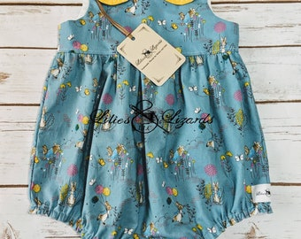 Peter Rabbit Bubble Romper Play suit With Peter Pan Collar
