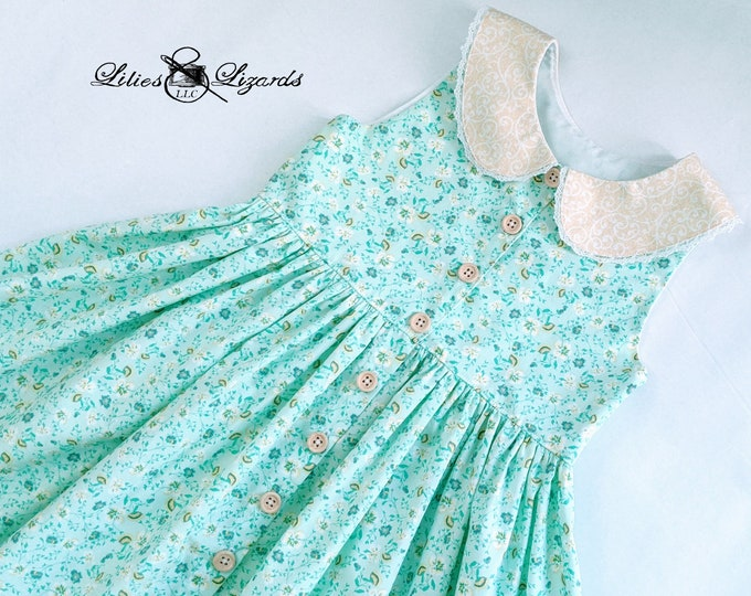 Girls Spring Floral Dress, Size 6