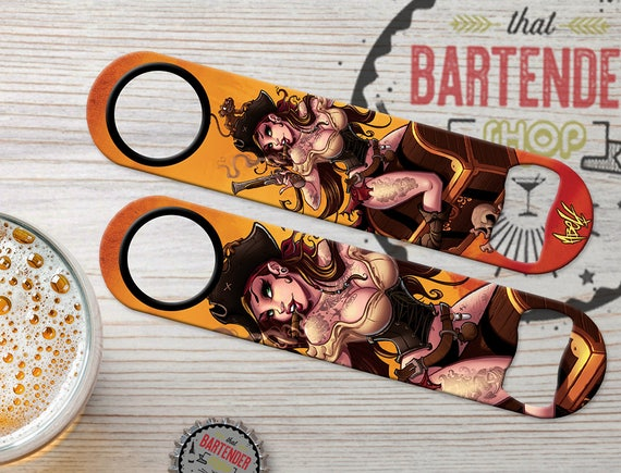 Cocktail Kitty Catwoman Personalized Bartender Bar Blades Speed Bottle Openers