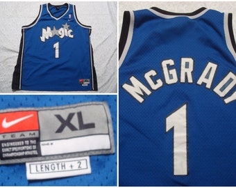 0d018459a Vintage Men s 90 s Nike Jersey Tracy McGrady Orlando Magic NBA Basketball  Blue Black Tank XL