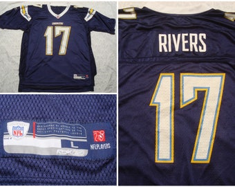caf90104874 Vintage Men's Reebok Jersey San Diego Chargers Philip Rivers Blue Yellow  White Football NFL 17 Large