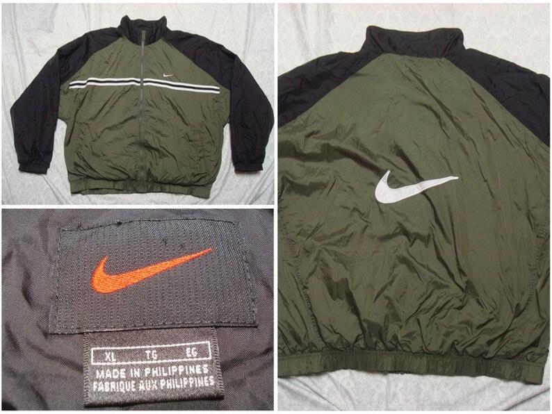23815bf3d181 Vintage Men s Nike 90 s Jacket Green Black White