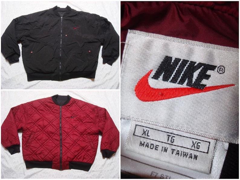 536578420a052 Nike veste réversible noir marron rouge années 90 pour homme