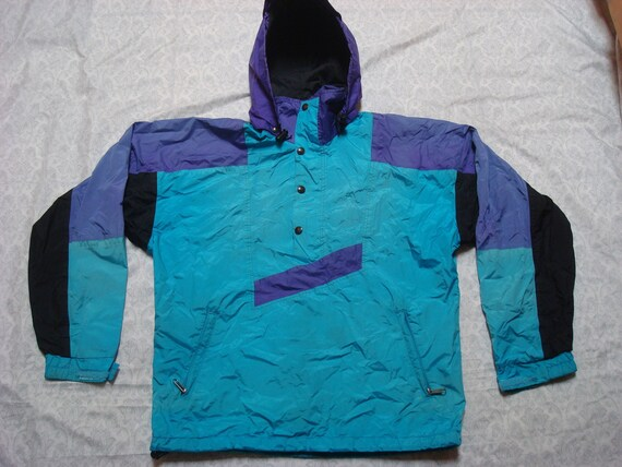 8adb8b733 Vintage Men's 80's The North Face Windbreaker Ski Jacket Mountain Parka  Gore-tex Blue Purple Hood Distressed Small Made in the USA