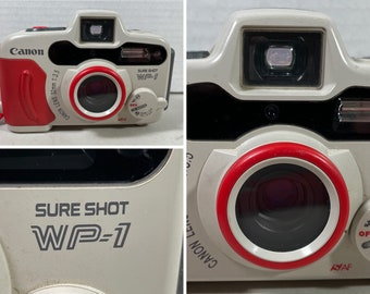 Canon Sure Shot WP-1 Waterproof Underwater Camera 35mm Film with Battery Tested Working