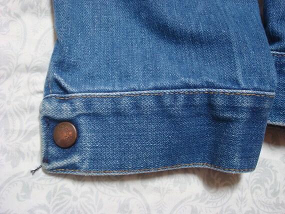 Vintage Herren 70 Wrangler Jeansjacke 126MJ 14 Unzen Plus Denim Jacke Indigo sanfor Patch XL 46 hergestellt in USA
