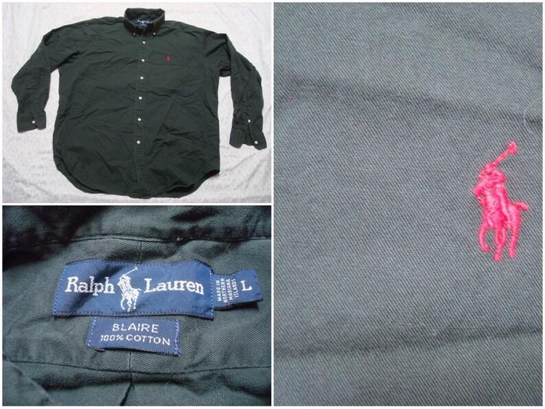 dccf3a904 Vintage Men's 90's Polo Ralph Lauren Blaire Shirt   Etsy