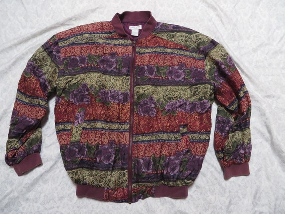Vintage Robert Stock Jacket Silk Bomber Designer … - image 2