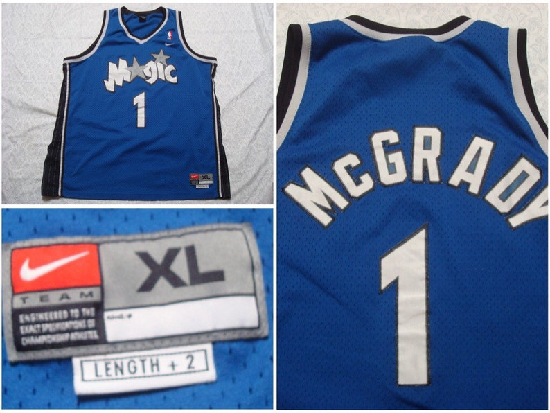 3a20ba17 Vintage Men's 90's Nike Jersey Tracy McGrady Orlando | Etsy