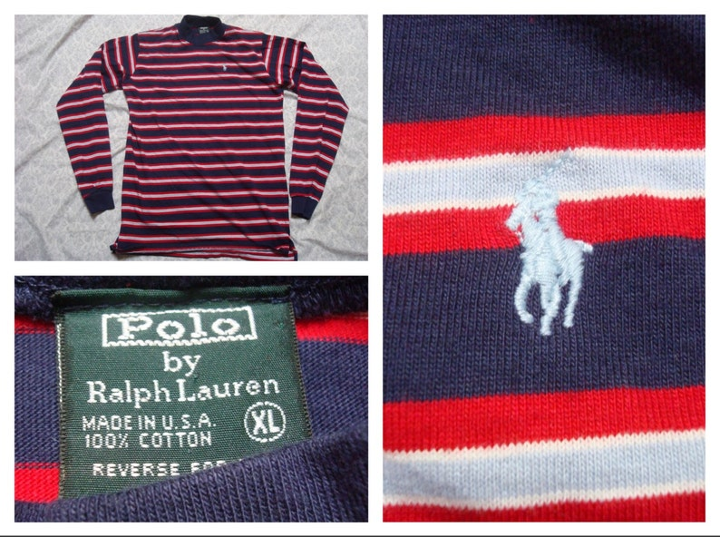 Vintage Small Blue Long White Green Polo Usa Boys In Red Sleeve Ralph Mens Lauren Made Shirt Men's Xl Tee Label The OnP8w0k