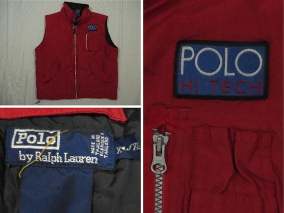 Vintage Polo Hi Tech Vest Red Ralph Lauren Puffer