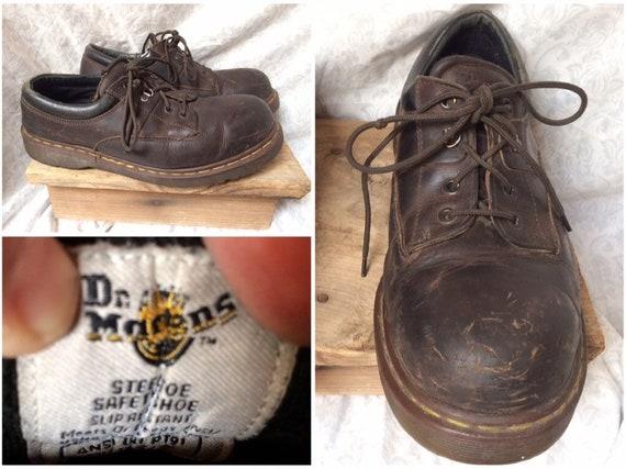 doc martens steel toe safety shoe