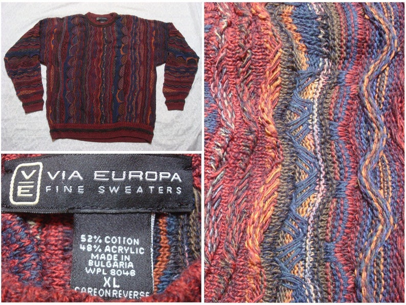 8be2675647d9bc Vintage Men s 90 s Via Europa Fine Sweaters Coogi