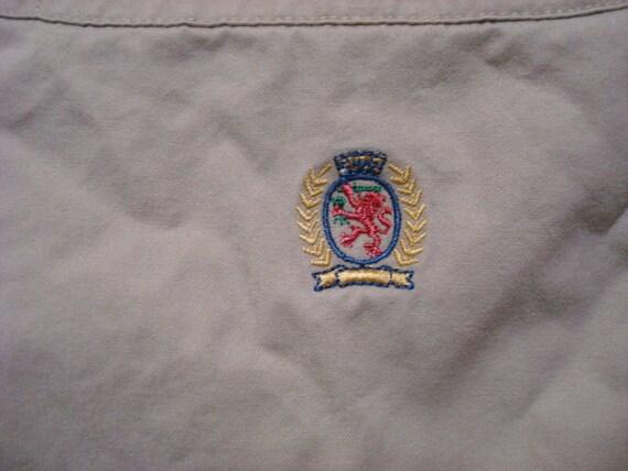 Dettagli su Vintage Tommy Hilfiger Piccolo Crest Logo Manica Lunga Camicia a Quadri Rosso S