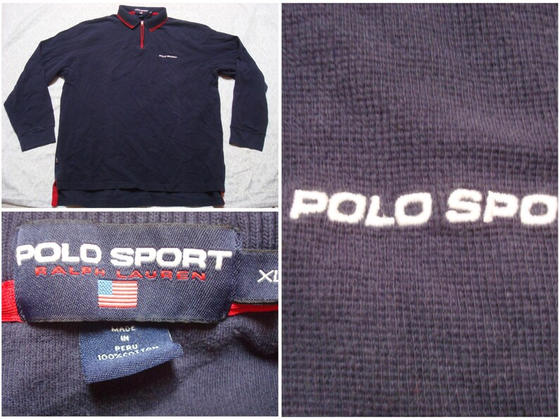 101ade25 Vintage Men's 90's Polo Sport Ralph Lauren Polo Shirt   Etsy