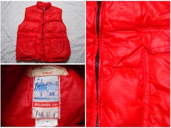 Vintage Frostline Kits Down Vest Puffer Red Handma