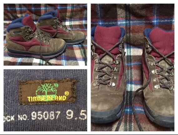 Timberland randonnée bottes rouge bleu marron cuir cheville bottes pour homme taille 9,5 femmes taille Vintage hommes 11