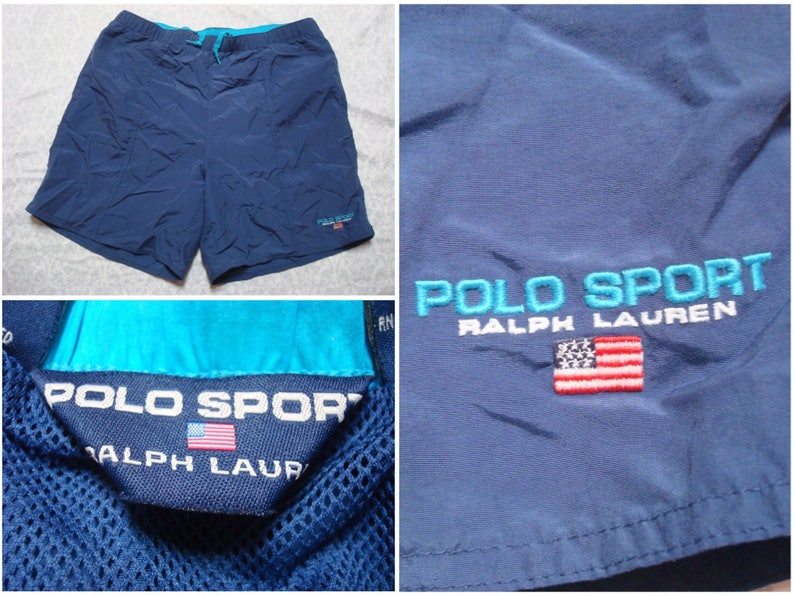 35b83d5ef4 Vintage Men's 90's Polo Sport Ralph Lauren Swimsuit | Etsy