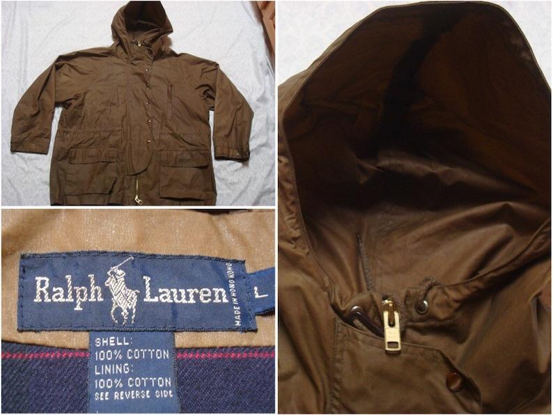 7115f2cd8a20a Ralph Lauren veste 90 pour homme Vintage ciré capuche Parka