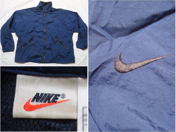 Vintage Nike Windbreaker Blue Black Embroidered Sw