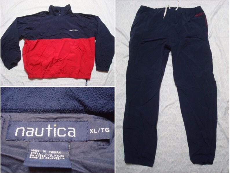 c1a89d1df67ed3 Vintage Men s 90 s Nautica Track Suit Nylon Jacket