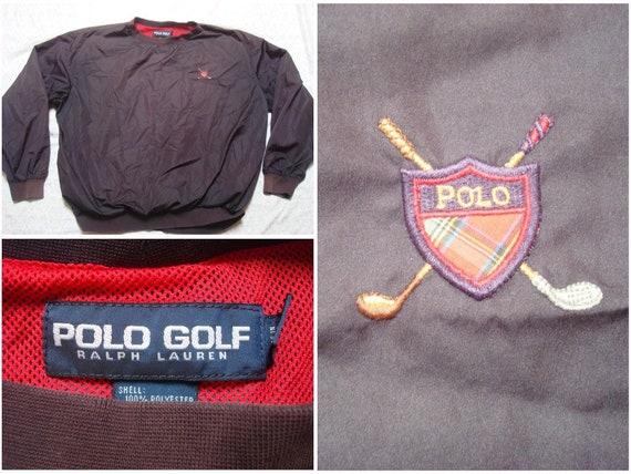 Vintage Polo Golf Windbreaker Black Crest Spell Ou