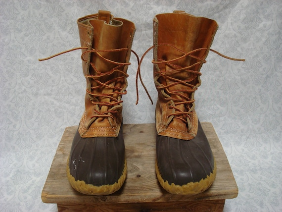 L taille 5 détresse 8 Mens Vintage Bean haut cheville bottes cuir femmes 9 in USA chaussure Made Maine L hommes Bean chasse 3Rq45jLA
