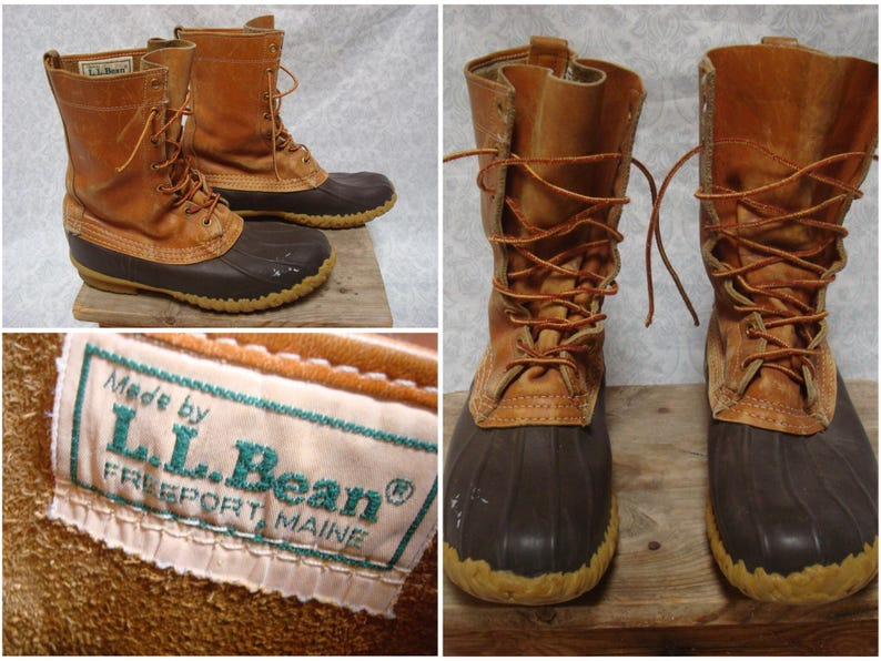 f22476d4b7 Vintage Men's L.L.Bean Maine Hunting Shoe Bean Boots | Etsy