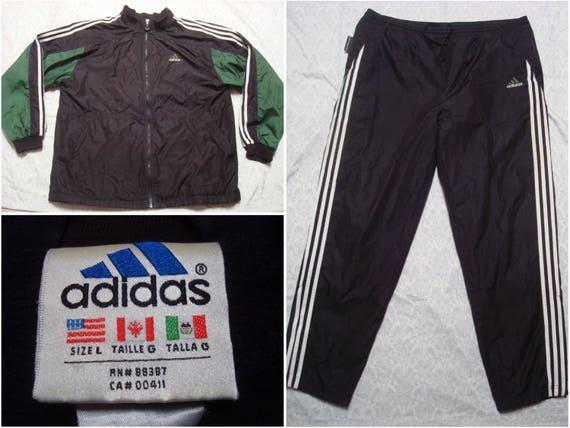 Vintage Herren 90 Adidas Anzug Nylon Trainingsjacke Hose