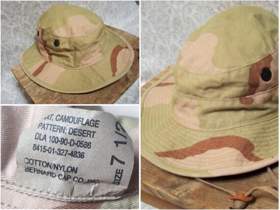 Vintage Men s 90 s Military Issue Boonie Hat Desert  7845f47f2d2