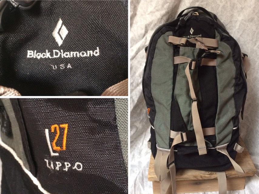 11349fd1e5a2b Jahrgang 90er Black Diamond Rucksack L27 Zippo technischen