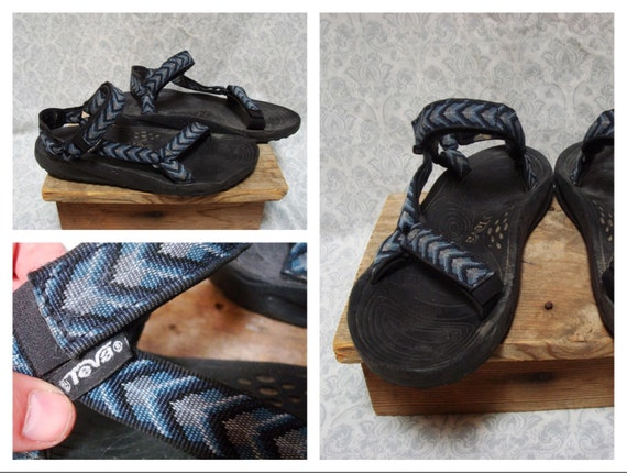 Vintage Men's Teva Sandals Tribal Print Blue Gray Black Limited Edition Size 12