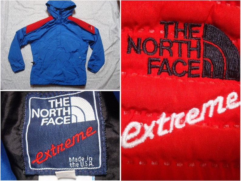 f4a674720 Vintage Men's 80's The North Face Extreme Ski Jacket Mountain Parka  Gore-tex Red Blue Pullover Windbreaker Small Medium Made in USA
