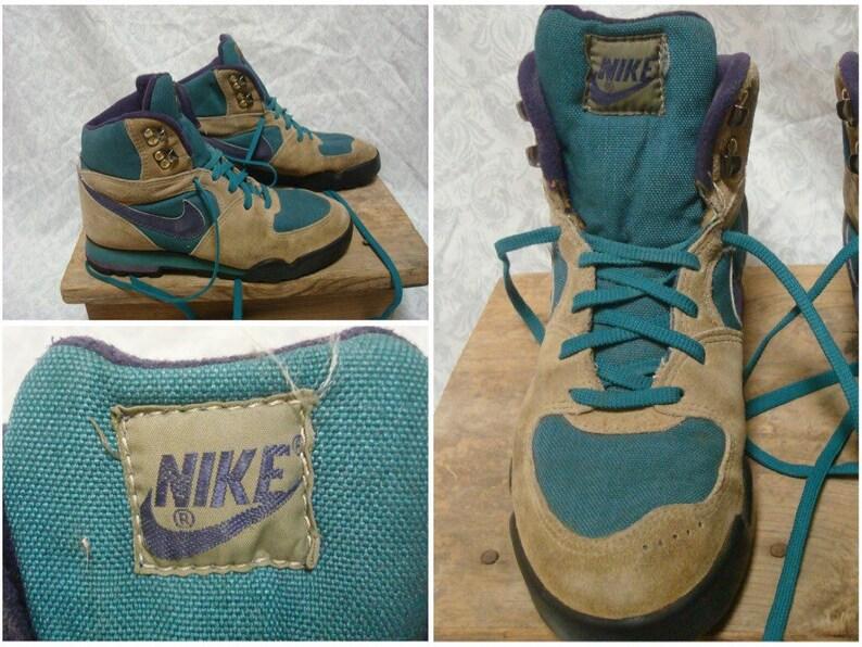 68336415692c Vintage Women s 80 s Nike Hiking Boots Purple Green