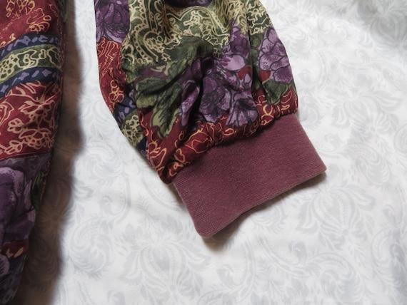 Vintage Robert Stock Jacket Silk Bomber Designer … - image 5