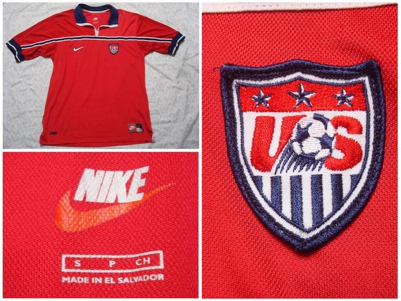 456e1de69 Vintage Men s 1998 World Cup USA Nike Soccer Jersey Home