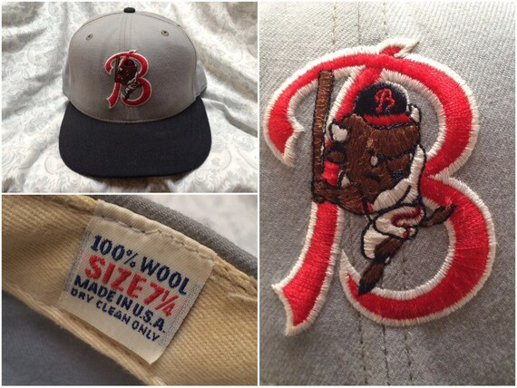 Vintage Buffalo Bisons Hat Fitted Cap Grey New Era