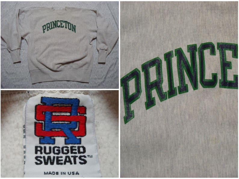 534fcb12934 Vintage Men s 90 s Reverse Weave Princeton University