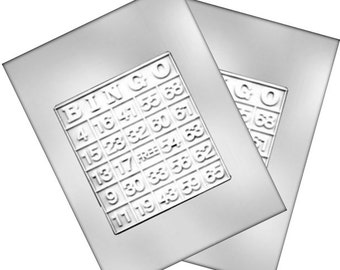Bingo Card Chocolate Mold - Games - Baking Candy Making Party Supplies