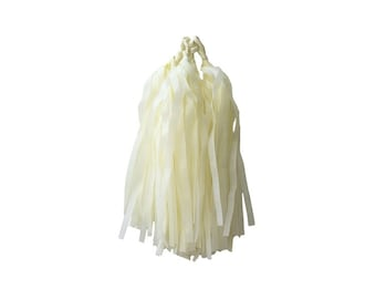 Ivory Tissue Tassels - Pack of 4 - DIY Kit Assembly Required - Paper Party Decor Decoration Supplies