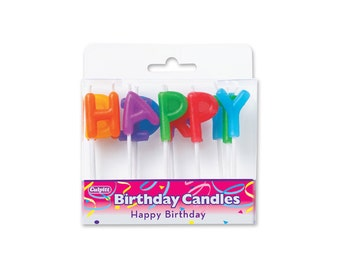Happy Birthday Candles, Baking and Candy Making, Toppers and Picks, Party Supplies