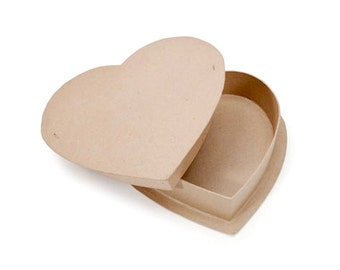 Paper Mache Heart Shaped Candy Box - 12 Inch - Craft Supplies