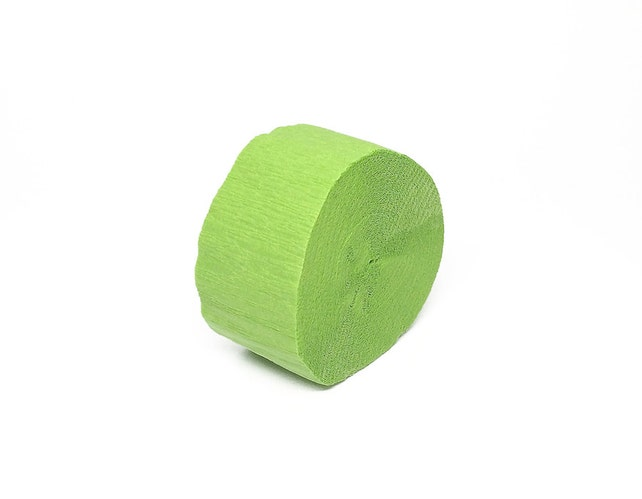 Light Green Crepe Paper Streamer Roll - 81 Feet Long - Paper Craft Party Supplies