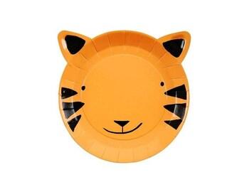 Tiger Paper Plate Jungle Theme Tableware Party Supplies Meri Meri  sc 1 st  Etsy & Tiger plates | Etsy