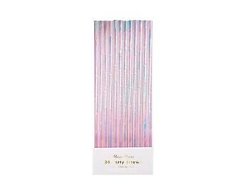 Iridescent Paper Straws, Princess, Fairy Tale, Theme, Tableware, Party Supplies, Meri Meri