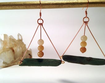 Driftwood Trapeze earrings
